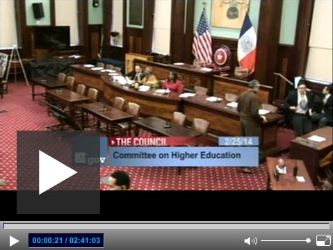October 26, 2016 New York City Council Hearing on Pathways